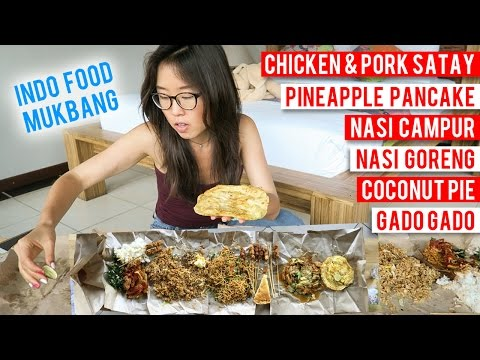 INDONESIAN FOOD MUKBANG with Mie Goreng Fried Noodles, Nasi Campur, Gado Gado