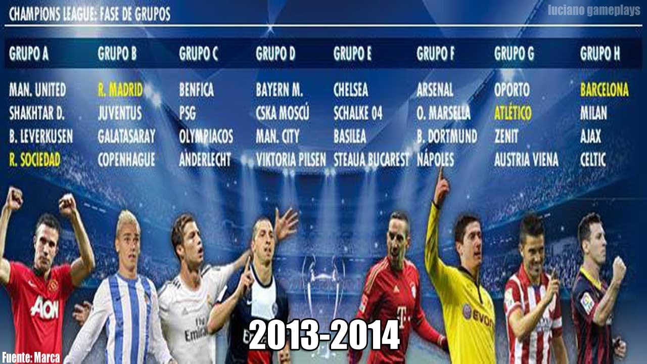 Uefa champions league fase de grupos 2013 14 youtube voltagebd Images