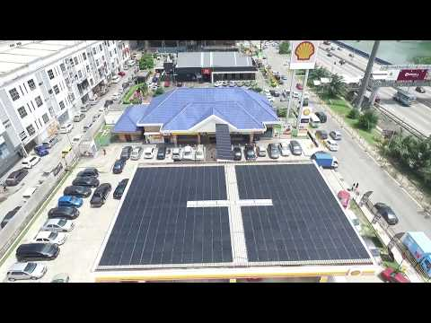 Solar PV System Integration At Shell Station(Malaysia) #2