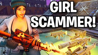 Toxic RICH GIRL! tried to SCAM me! 😱😦 (Scammer Get Scammed) Fortnite Save The World