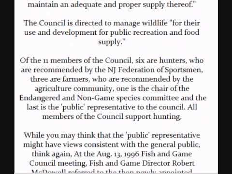 The Reality Of The NJ Division Of Fish, Game And Wildlife And Hunting In NJ