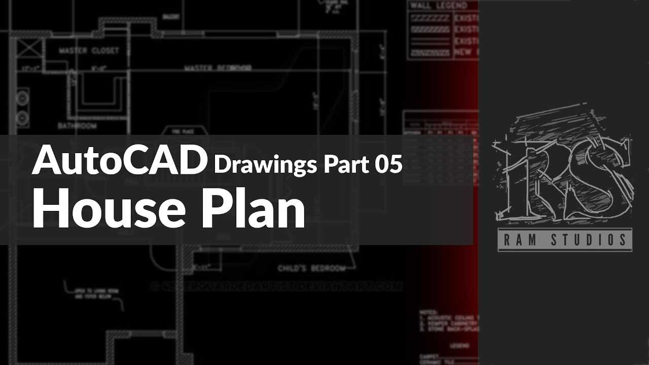 autocad drawings tutorials part 05 house plan youtube