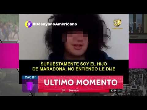 Habló el supuesto sexto hijo de Diego Armando Maradona