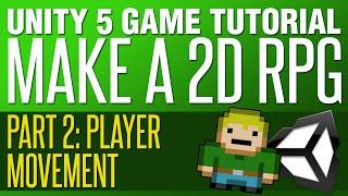 unity rpg tutorial 2   player movement