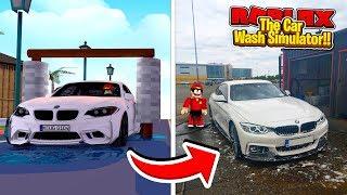ROBLOX - CAR WASH TYCOON, REAL LIFE vs ROBLOX!!