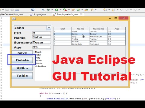 Java Eclipse GUI Tutorial 13 # How to refresh JTable after