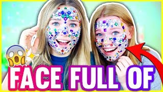A FULL FACE OF RHINESTONES (Glitzersteine) ⁉️ 😱✨