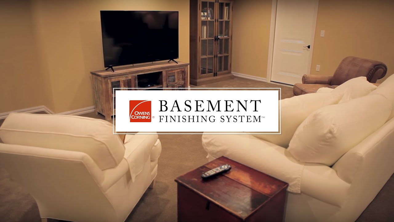 Total basement finishing system - Basement Finishing System Owens Corning Paintable Wall Panels Youtube