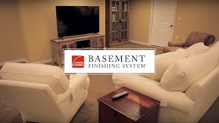 Basement Finishing System - Owens Corning Paintable Wall Panels