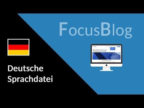 Anleitung: Deutsche Sprachdatei für den FocusBlog Theme installieren