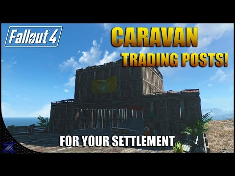 Fallout 4 - How to Unlock Caravan Trading Posts for Your Settlement