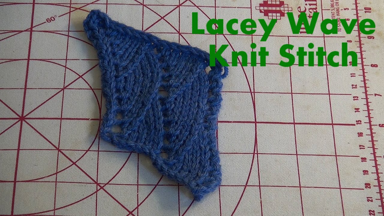 Lacey Wave Knit Stitch on the Machine - YouTube