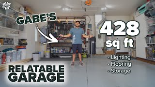 A Tour of Gabe's Relatable Garage | 2-Car Bay (428 square feet)