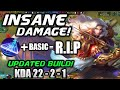 LANCELOT'S GODLY DAMAGE WITH UPDATED BUILD! Insane HyperCarry Gameplay By Sierra Xfinity!