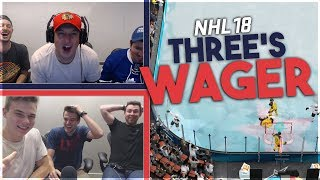 NHL 18: HUGE THREE'S WAGER w/ 6 YOUTUBERS