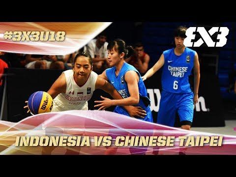 Indonesia survive thriller vs. Chinese Taipei - Full Game - Asia Cup U18 - FIBA 3x3