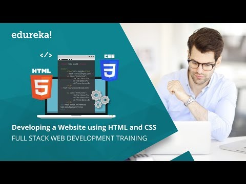 Create A Website Using HTML And CSS Under 30 Minutes | HTML Tutorial | CSS Tutorial | Edureka