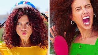 PROBLEMY DZIEWCZYN Z LOKAMI || Kręcone włosy to nie przelewki od 123 GO!