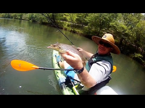 Kayak fishing the toccoa river tailwater youtube for Toccoa river fishing