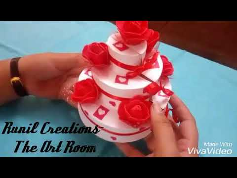 Cute Paper Cake With Secret Place to keep ur Small Precious Gifts  Available in different sizes
