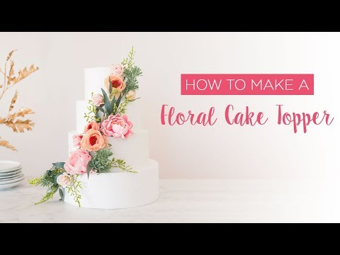 How To Make A Floral Cake Topper