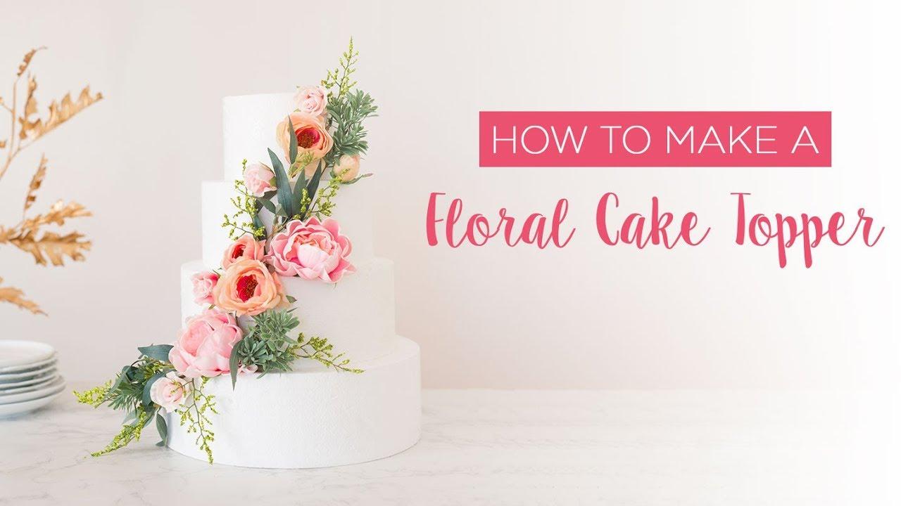 Gumpaste Flower Topper On Cake