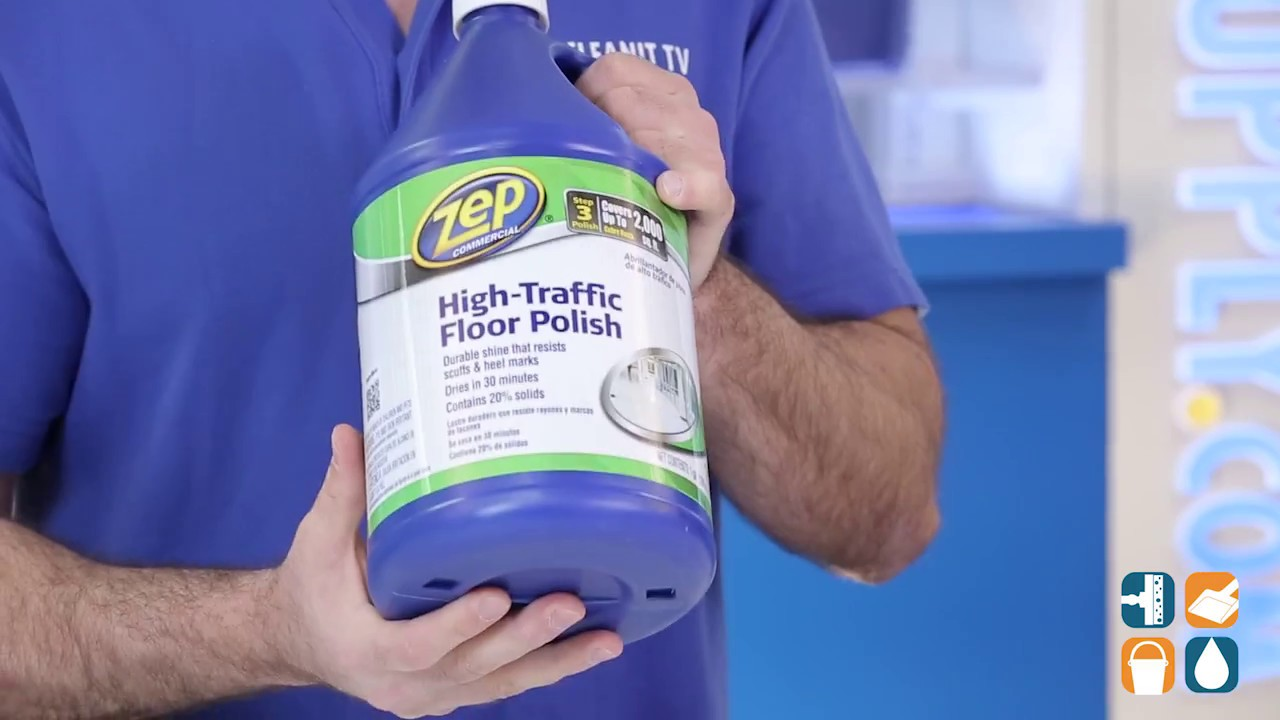 Great Zep Commercial High Traffic Floor Polish, 1 Gal Bottle