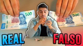 Pagando con billetes falsos por 24 hrs
