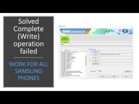 Solved | Complete Write operation failed | Work for all Samsung Phones