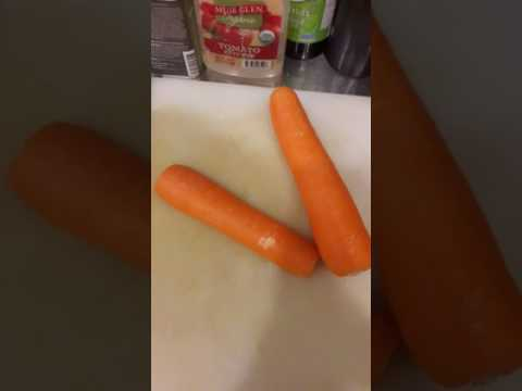 Heartshaped marks on an organic carrot Part 2