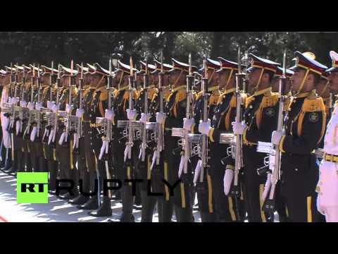 Iran: Rouhani welcomes Azeri counterpart Ilham Aliyev in Tehran