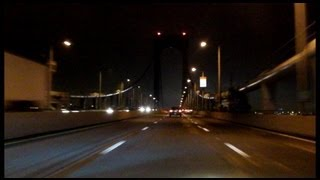 Bronx Whitestone Bridge northbound (Night)