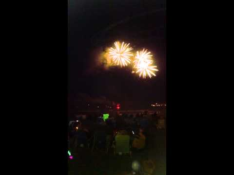 Fireworks short sands beach York beach Maine 2