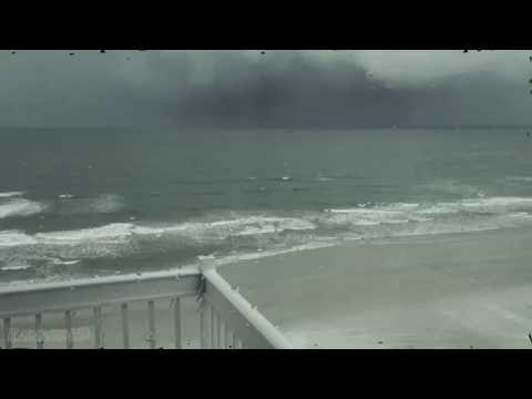 2 Hours of Heavy Rain over the Beach |  High-Quality Audio and Video Sleep Sounds