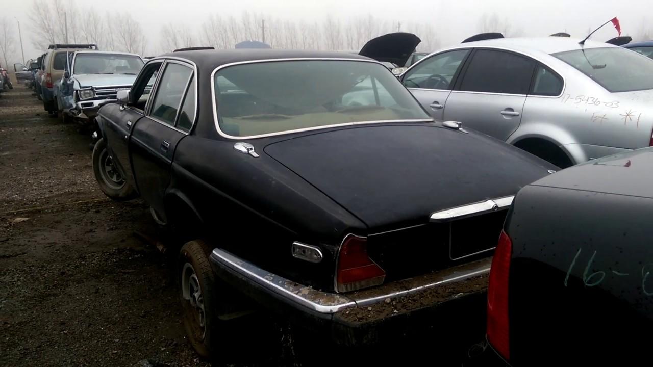 Old Jaguar Xj6 At The Junk Yard
