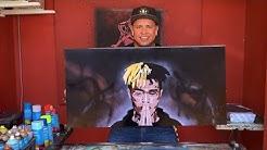 XXX Tentacion spray paint art and stencil
