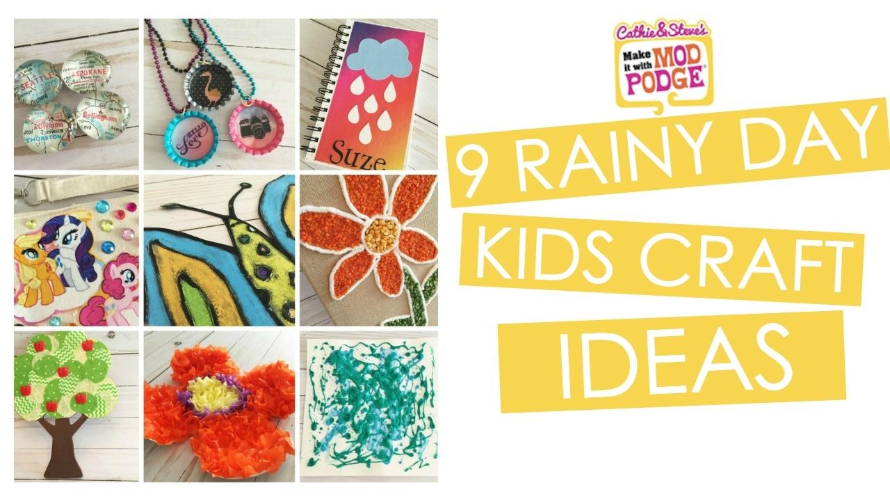 9 Rainy Day Kids Craft Ideas Youtube