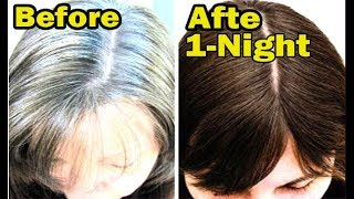 Apply it 1 Night White Hair Turn To Jet Black Permanently 100% WORKING Trust me everyday culture