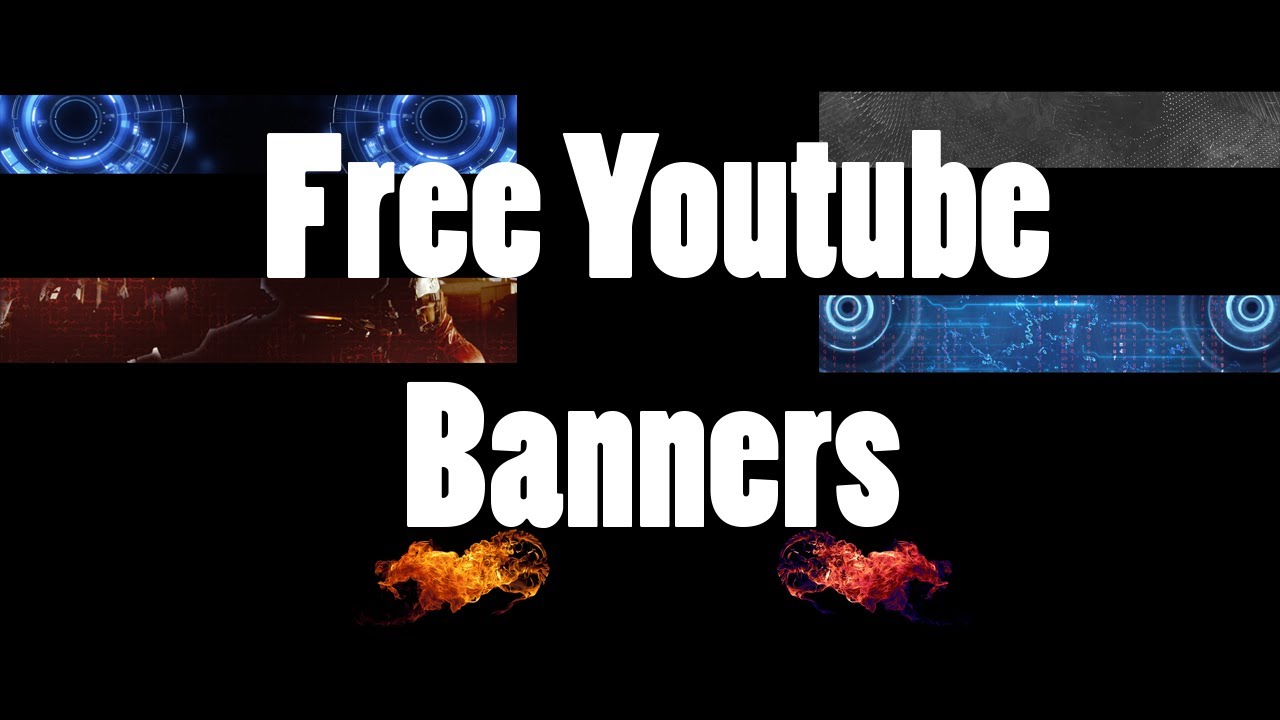5 free to use no name youtube banners youtube