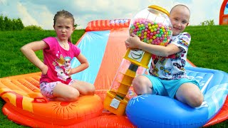Ksysha and Niki play Outdoor Games & Activities for kids
