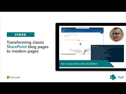 Community call demo - Transforming classic SharePoint blog pages to modern pages