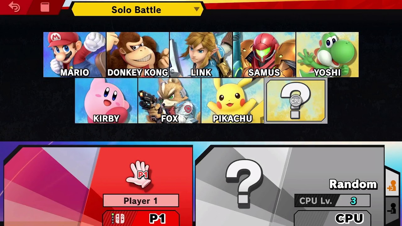 Image result for Super Smash Bros 64 player select screen