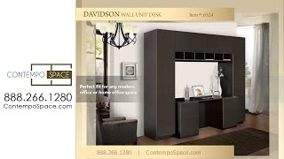 Davidson Wall Unit Desk | Item #: 6524