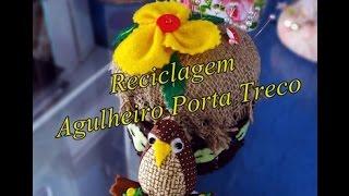 Reciclagem – Agulheiro Porta Trecos Corujinha