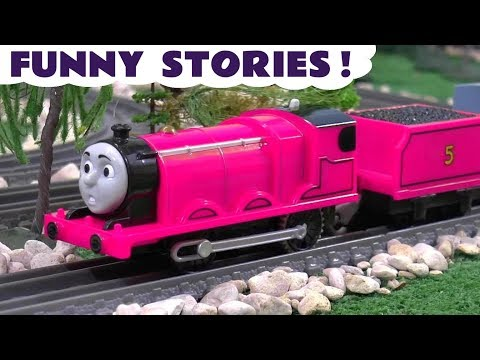 Thomas and Friends funny stories with pink toy trains and a McDonalds Drive Thru TT4U