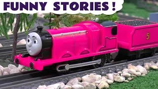 Gambar cover Thomas and Friends funny stories with pink toy trains and a McDonalds Drive Thru TT4U
