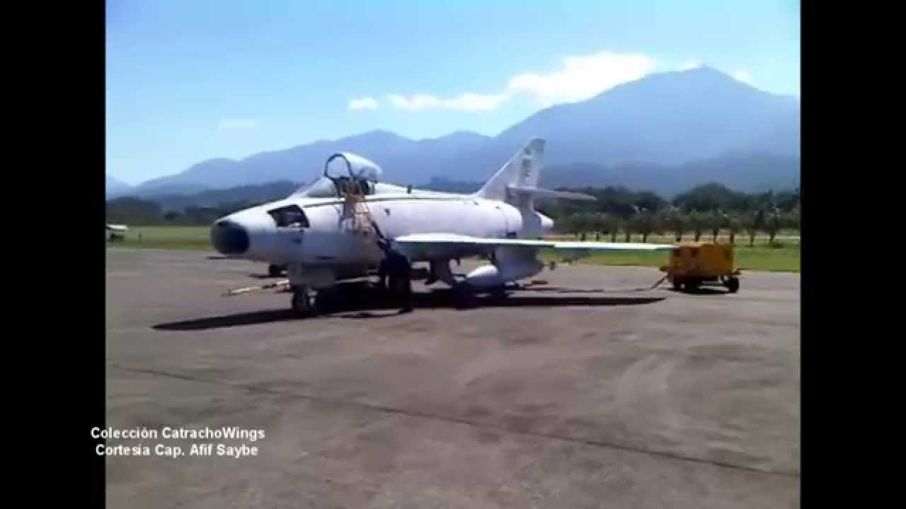 Honduras Air Force Super Mystere B2 Quot Sa Ar Quot Start Up Youtube