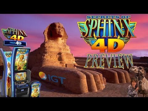 SECRETS OF SPHINX 4D SLOT MACHINE! NEW GAME-PREVIEW-IGT
