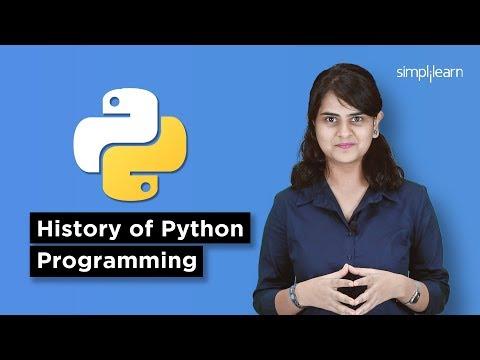 History Of Python Programming Language   Introduction To Python   Python Programming   Simplilearn