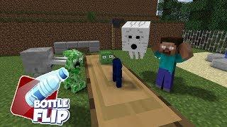 MONSTER SCHOOL : BottleFlip Challange - Minecraft Animation